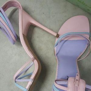 Michael Antonio pink and lavender heel